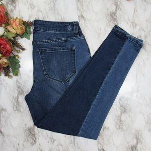 Kensie Two Tone Skinny Jeans